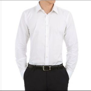 Men's Verno Fashion white slim fit dress shirt